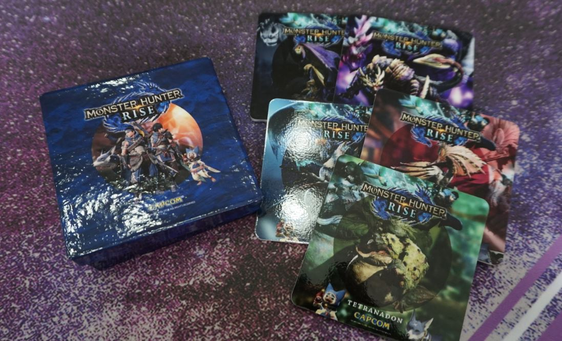 monster hunter rise collectors edition coasters