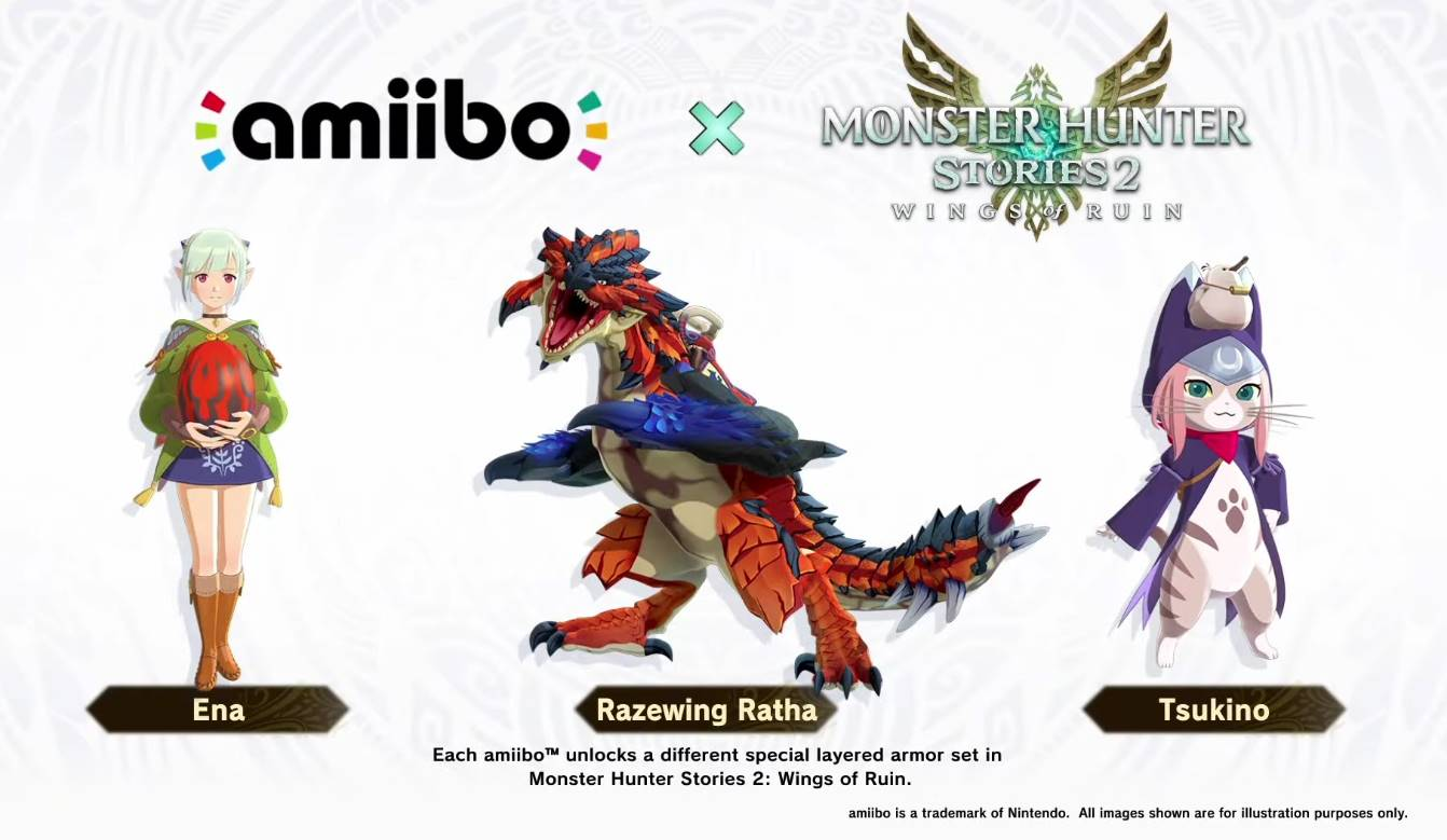 monster hunter stories 2: wings of ruin amiibo