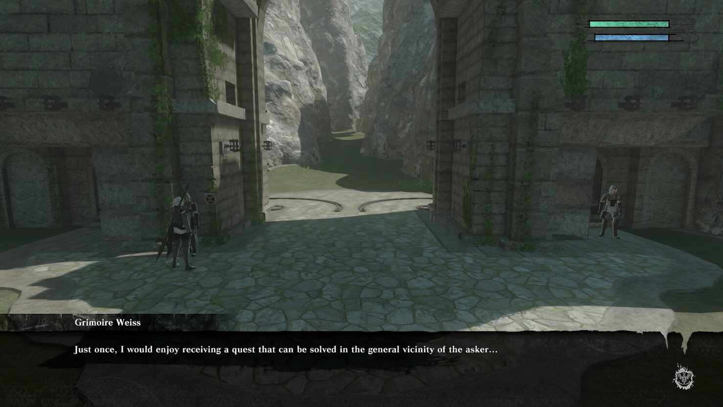 Nier Replicant ver. 122474487139... handle with care side quest