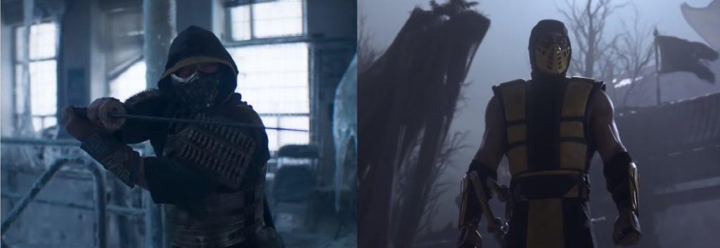 mortal kombat game and movie comparison 9