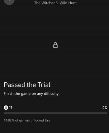 the witcher 3 trophy data