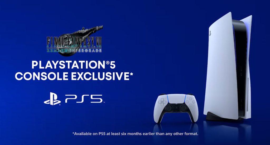 final fantasy vii remake intergrade ps5 console exclusive