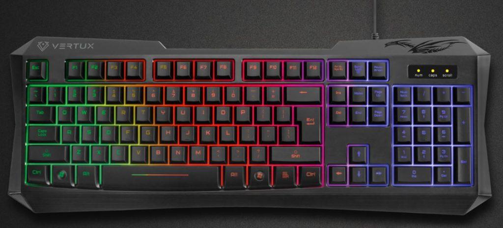 vertux radiance gaming keyboard