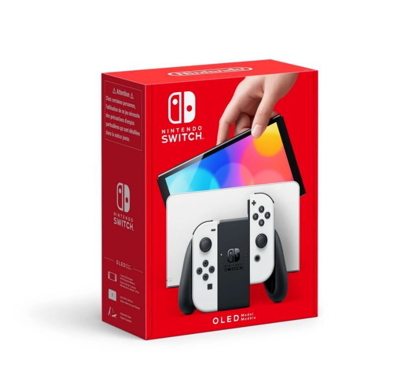 nintendo switch oled new packaging white