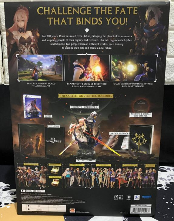 tales of arise collector's edition box back