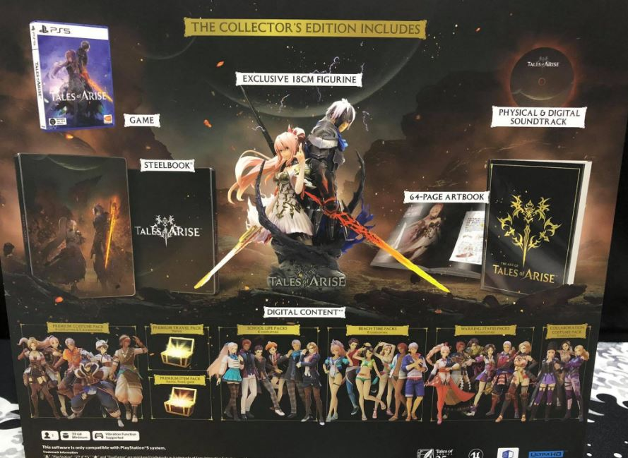 tales of arise collector's edition contents