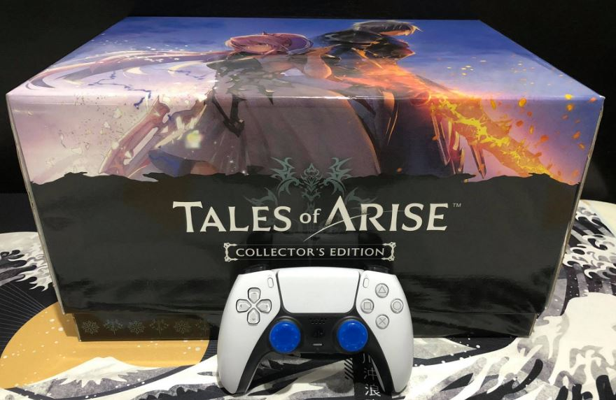 tales of arise collector's edition inner box dualsense