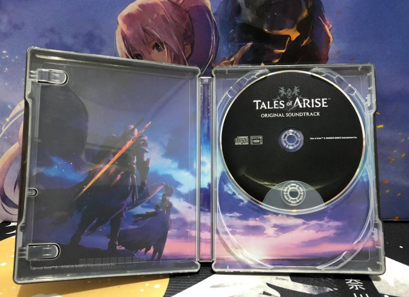 tales of arise collector's edition steelbook inner